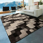 Gray Contemporary Machine Made Curved Edges Pixels Area Rug Geometric 4312
