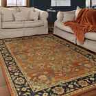Red Medallion Vines Curves Traditional-Persian/Oriental Area Rug Floral 3810
