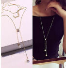 New Simple Fashion Tassel Bead Charm Necklace Womens Jewelry