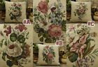 """14"""" Hand Crafted Needlepoint Petit Point Pink White Roses Pillow"""