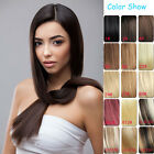 """20""""/22"""" 70g-160g Clip In Heavy Thick 100% Natural Human Hair Extensions"""