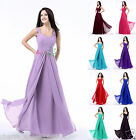 New Long Chiffon Women's Bridesmaid Dress Formal Party Prom Evening Gown 4-18