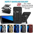 Samsung Galaxy Note 7 Armor Case Cover Kickstand Shockproof Tradesman Card Slot