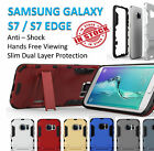 Samsung Galaxy S7  S7 Edge Armor Phone Case Cover Kickstand Shockproof Tradesman