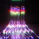 6*3M Waterfall LED Light Water Flow String Lights Wedding Party Festival Decor