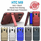 HTC M9 Iron Armor Phone Case Cover Kickstand Shockproof Rugged Tradesman Tough
