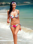 New Rose Bikini Halter Padded Swimsuit Bathing Swimwear Plus 8 10 12 14 16