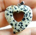 Beautiful Hand-carved Heart-shaped Mixed agate PENDANT GEMSTONE LOOSE beads C1Agate - 10185