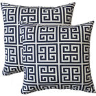 Fox Hill Trading Premiere Home Greek Key Throw Pillow Set of 2