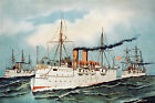 Currier and Ives Vintage Repro Giclee Print/Poster #13 Cruiser Philadelphia USN