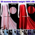 """1 Meter 30 Momme 100% Pure Mulberry Silk Charmeuse Clothing Fabric  55"""" Wide"""