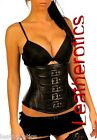 Genuine Leather Under Bust Gothic Corset Corsagen 1819BLK