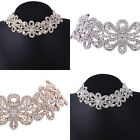 Luxury Women Rhinestone Crystal Silver Plated Alloy Choker Necklace Collar Gifts
