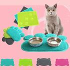 Pets Feet Mat Placemat PVC Radiating Dog Cats Sleeping Feeding Pads Paw Shape