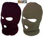Mens Balaclava Army Military 3 Hole Full Face Hat Snood Black Green Surplus SAS