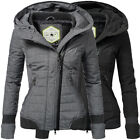 khujo Night Sportliche Damen Winter Stepp Jacke Mantel Parka gesteppt Kapuze