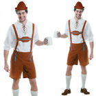 Mens Oktoberfest Lederhosen Costume Beer Festival Germany Fancy Dress Amscan