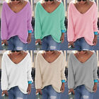 Fashion Women Casual Long Sleeve Knitted Pullover Loose Sweater new