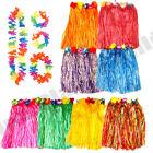 HAWAIIAN HULA LUAU SUMMER HULA SKIRT 4PC LEI GARLAND POOL PARTY FANCY DRESS