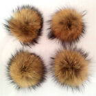 Real Fur Pompom Clothing Headpieces Bag Phone Chain Accessories 3 Size