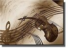 Music Notes Violin Picture on Stretched Canvas, Wall Art Decor Ready to Hang!.