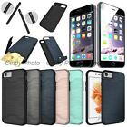 "For iPhone 7 4.7""Glass Film Card Armor Brushed Cover Case"