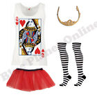 LADIES ALICE IN WONDERLAND QUEEN OF HEARTS FANCY DRESS COSTUME BOOK WEEK