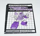 Darkwing Action Figure Robot Instruction Manual 1988 Hasbro G1 Transformers - Time Remaining: 29 days 5 hours 40 minutes 17 seconds