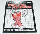Chromedome Action Figure Robot Instruction Manual 1987 Hasbro G1 Transformers - Time Remaining: 7 days 22 hours 59 minutes 47 seconds