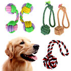 Pet Dog Durable Tough Strong Chew Toy Cotton Rope Ball Dumbbell Puppy Play