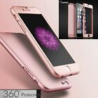 360° Full Protective + Tempered Glass Hard Case Cover For iPhone 6 6S 7 7 Plus
