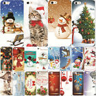 Festive Merry Christmas Cute Painted Hard Case Cover For iPhone 4S 5S 5C 6 7Plus