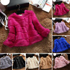 Warm Ladies Real Genuine Natural Rabbit Fur Coat Short Winter Jacket Coats Top