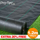 1m wide 100g weed control fabric landscape garden ground cover membrane sheet
