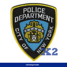 """2x NYPD New York Police Department Patch Badge 100% Embroidered 4"""" (W) x 5"""" (H)"""