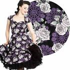 Hell Bunny Ilsa 50's Dress Floral Rockabilly Pin Up Retro Vintage Style