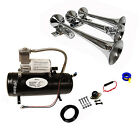 Loud 149dB Train Sound Air Horn Kit With 1 GalAir Tank And 150 PSI Compressor