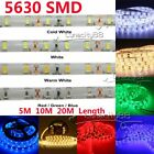 5630 SMD LED Tape Strip Light Ribbon Lamp For Home Garden Xmas Party Shop Decora