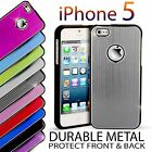 Durable 2Part Brushed Metal Bumper case cover for apple iphone 5 5s SE