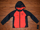 Under Armour® Logo Full Zip-Up Hoodie Winter Puffer Coat Boys Size 5/6/7 NWT