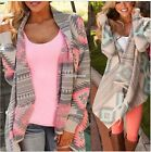 Womens Boho Long Sleeve Knitted Cardigan Loose Sweater Outwear Jacket Coat EN24H