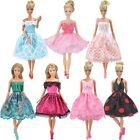 NEW STYLE Dolls Clothes Wedding Evening Party Dress Mini Skirt for Barbie Doll S