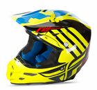 NEW 2017 FLY RACING F2 CARBON PEICK MX OFFROAD ADULT HELMET HI-VIS/ RED/ BLUE