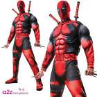 MARVEL DEADPOOL DELUXE ADULT LICENSED FANCY DRESS COSTUME* WEAPONS NOT INCLUDED*
