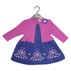 Baby Girls Cord, Cotton Lined Dress With Mock Cardigan (3-12 Months)