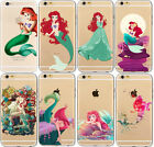 Ariel little Mermaid Design TPU Cute Case Cover For iPhone 4s 5s SE 5C 6s 7Plus