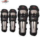 Motorcycle Motocross Off-Road Gear Stainless Steel Protective Elbow & Knee Pads