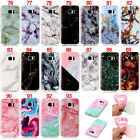 Marble Pattern Rubber Silicone Soft TPU Skin Gel Back Case Cover For Samsung