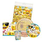 EMOJI Birthday Party Supplies - Smiley Tableware Balloons Banners & Decorations