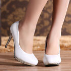 Princess Studded Shoes Platform Wedding Party White High Heels Royal Women Pumps